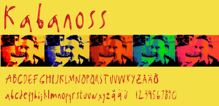 Kabanoss Font poster