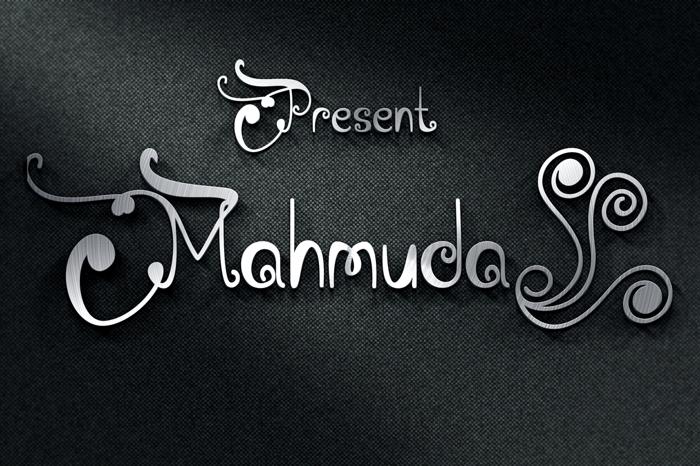 Mahmuda Font poster