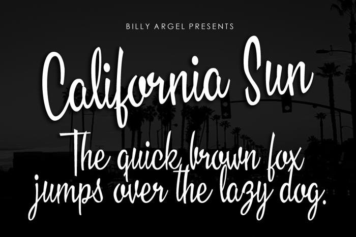 California Sun Font poster