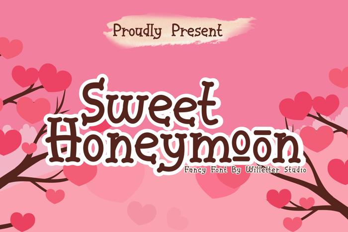 Sweet Honeymoon Font poster