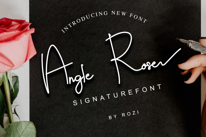 Angle Rose Font poster