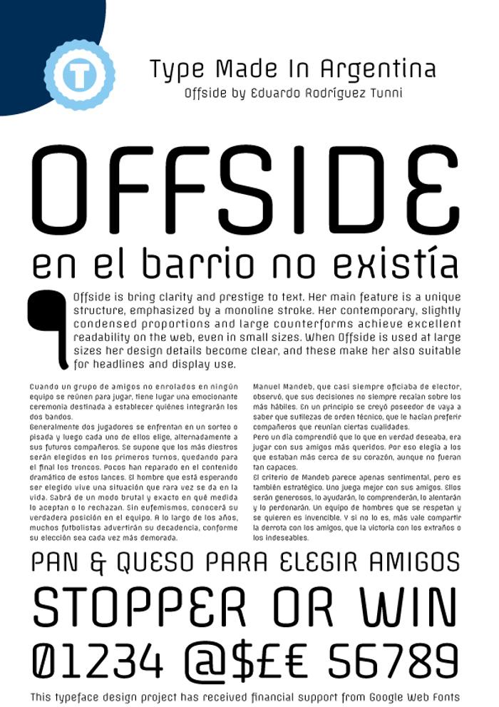 Offside Font poster