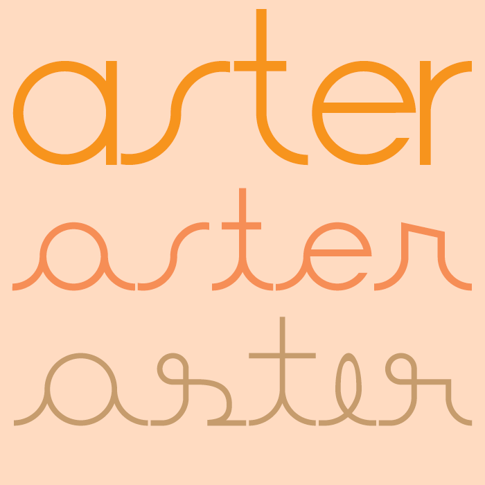 Aster Font poster