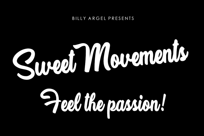 Sweet Movements Font poster
