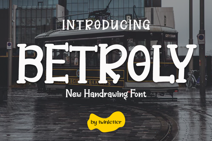 BETROLY Font poster