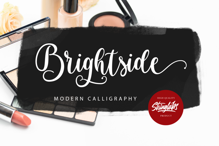 Brightside Font poster