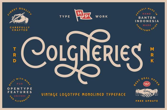 Colgneries Font poster