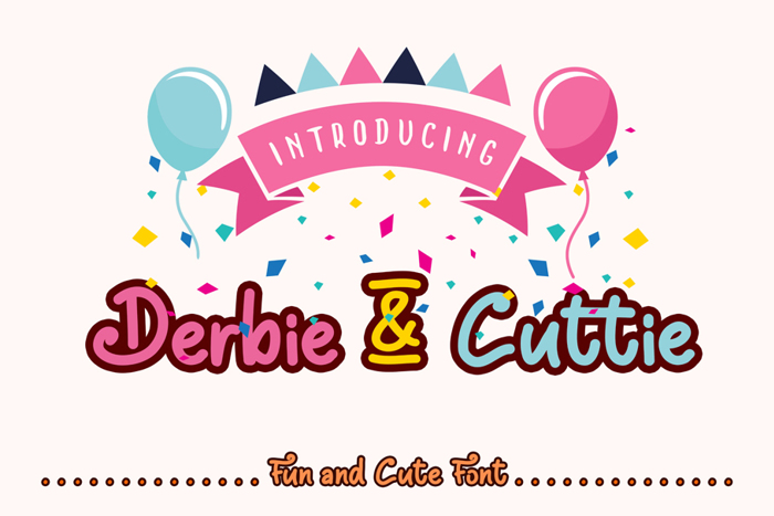 Derbie & Cuttie Font poster