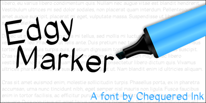 Edgy Marker Font poster