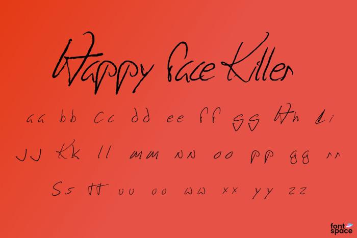 Happy Face Killer Font poster