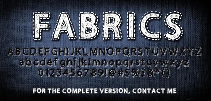 Fabrics Font poster