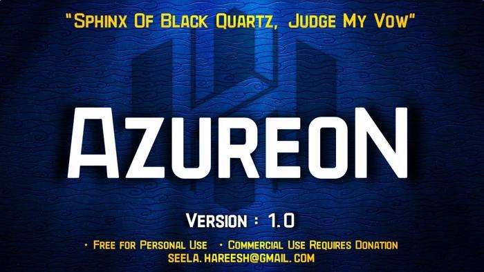 AzureoN Font poster