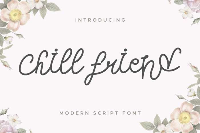 Chill Friend Font poster