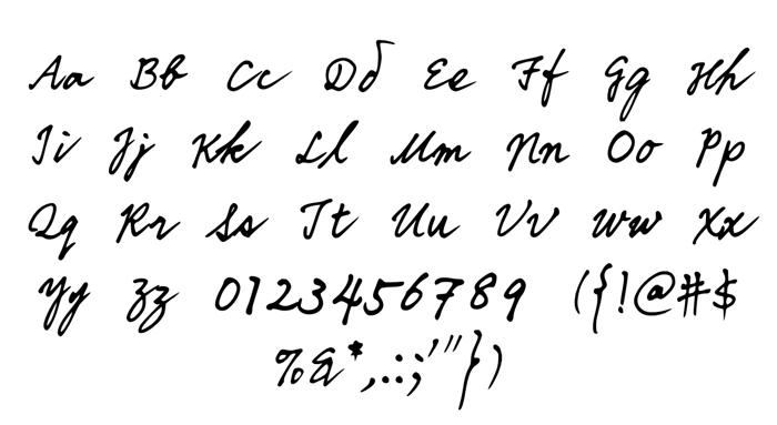 DDIHandwriting Font poster