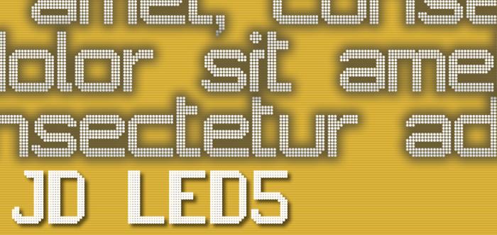 JD LED5 poster