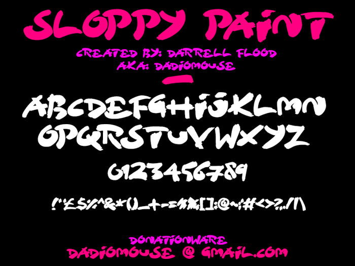 Sloppy Paint Font poster