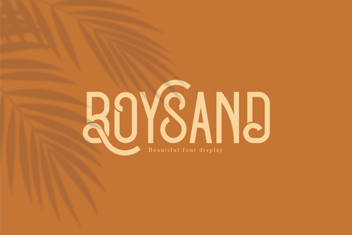Boysand Font poster