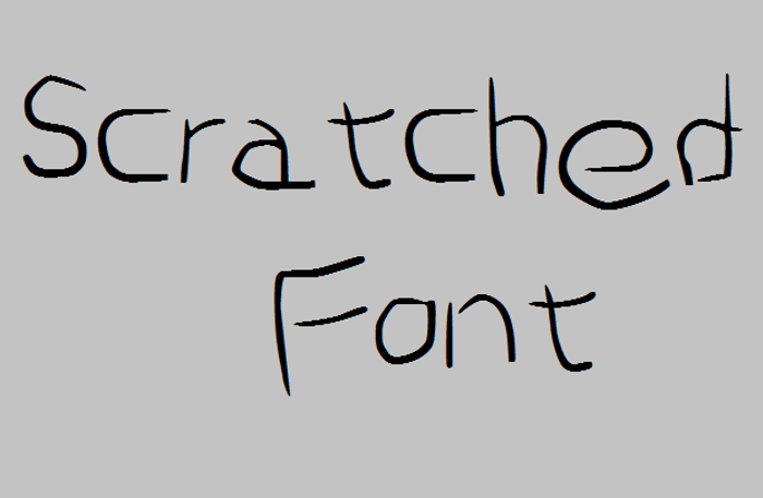 Scratched Font poster