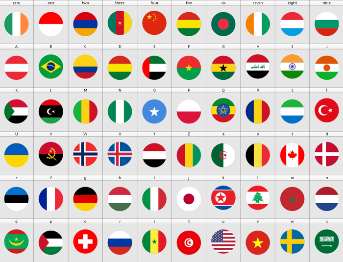 font flags color poster