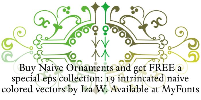 Naive Ornaments Font poster