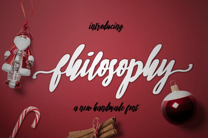 philosophy Font poster