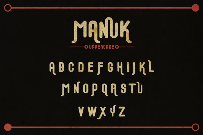 Manuk Font poster