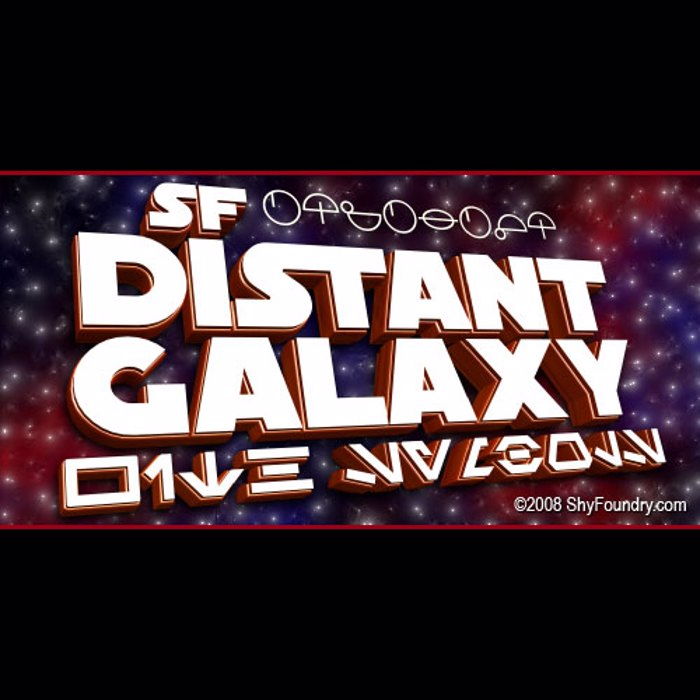 SF Distant Galaxy Font poster