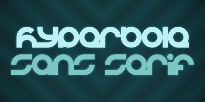 Hyperbole Font poster
