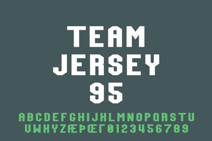 Team Jersey 95 Font poster