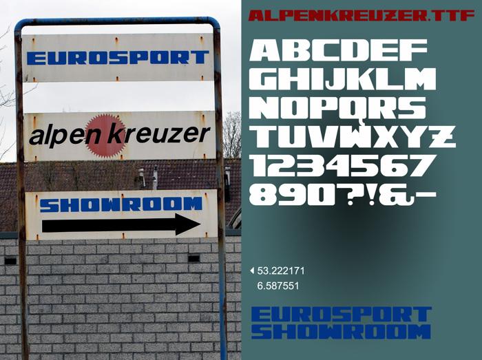 Alpenkreuzer Font poster