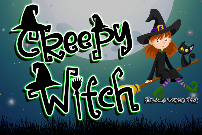 Creepy Witch - Font poster