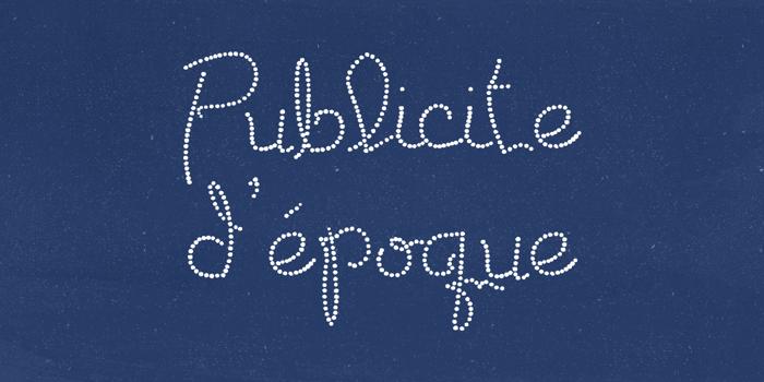 Publicite d'epoque basic Font poster