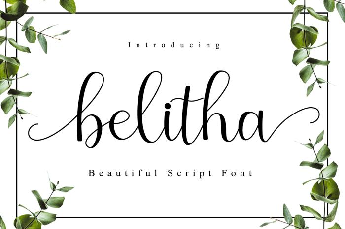 belitha Font poster