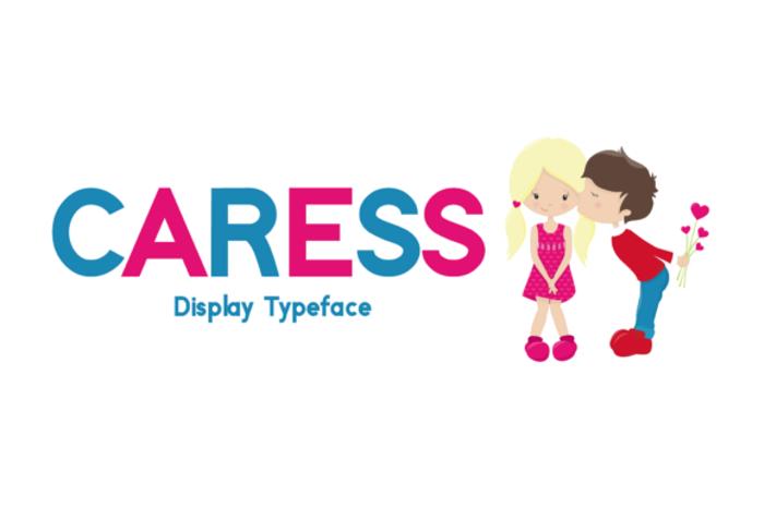 Caress Font poster