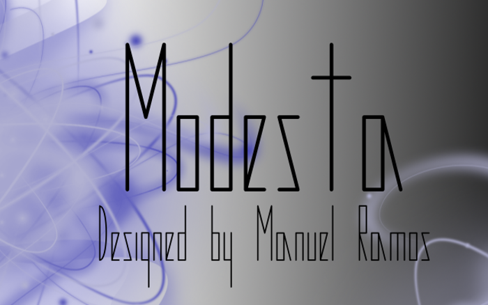 Modesta Font poster
