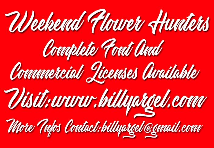 Weekend Flower Hunters Font poster