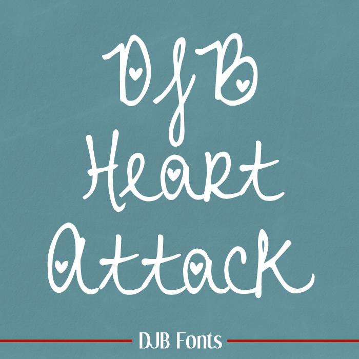 DJB Heart Attack Font poster