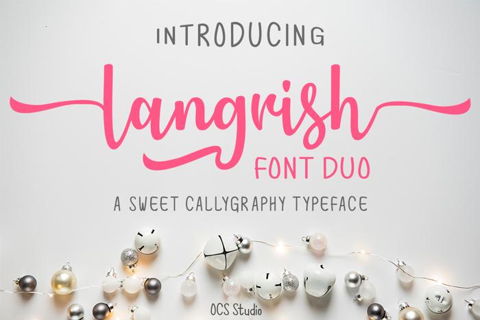 Langrish Sans Font poster