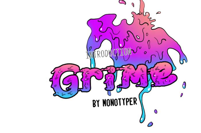 Grime Font poster