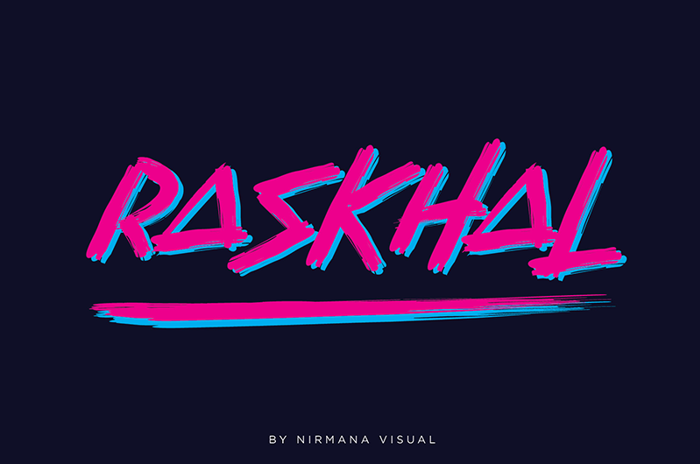Raskhal Font poster
