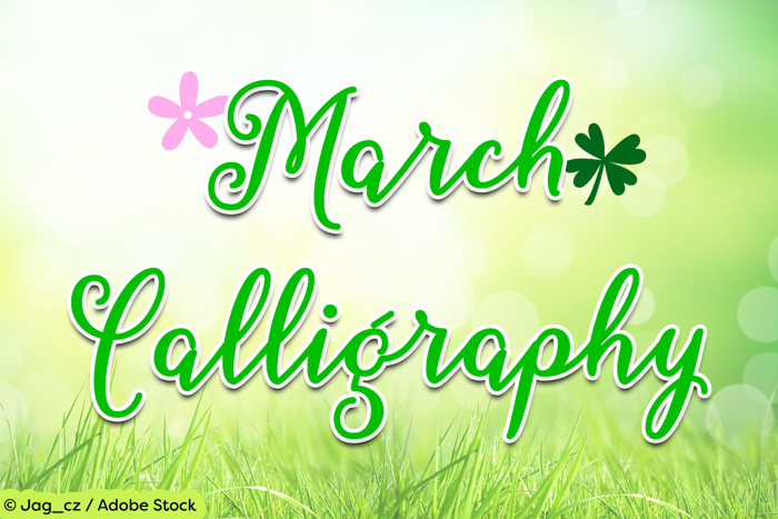 March Calligraphy Font poster