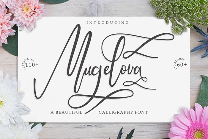 Mugelova Font poster