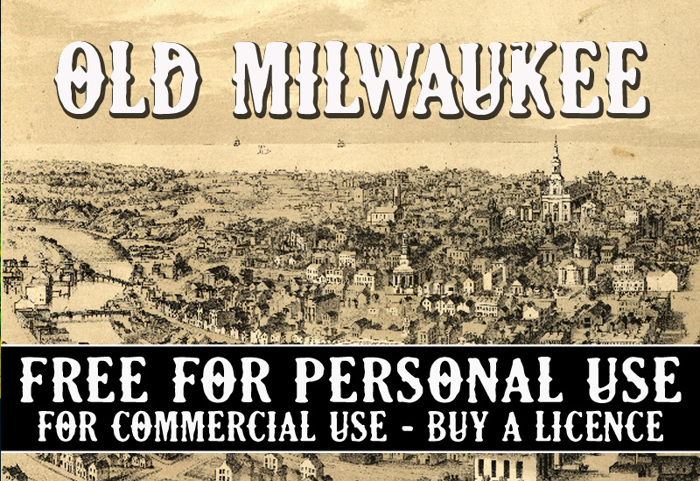 CF Old Milwaukee Font poster