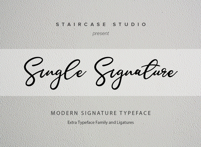 Single Signature Font poster