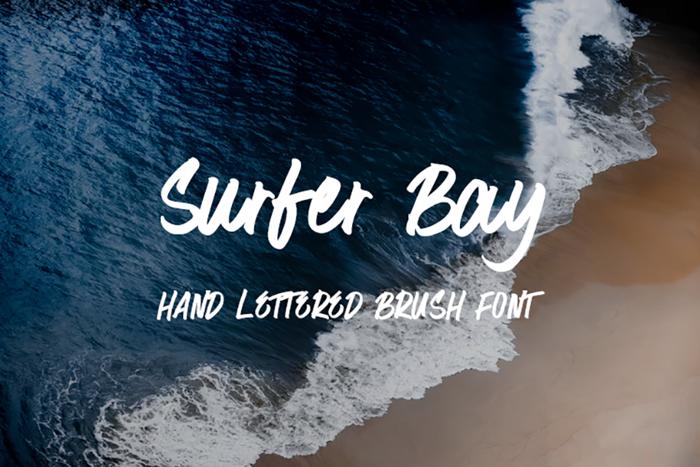 Surfer Bay Font poster