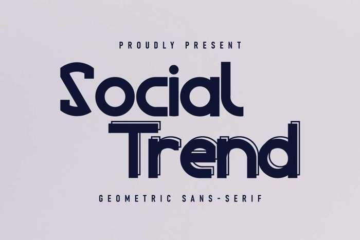 Social Trend Font poster