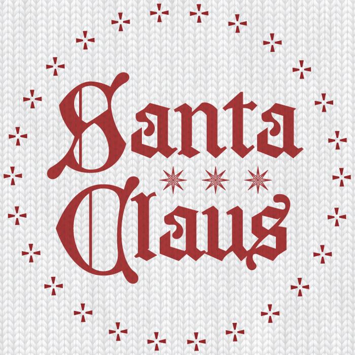 Santa Claus Font poster
