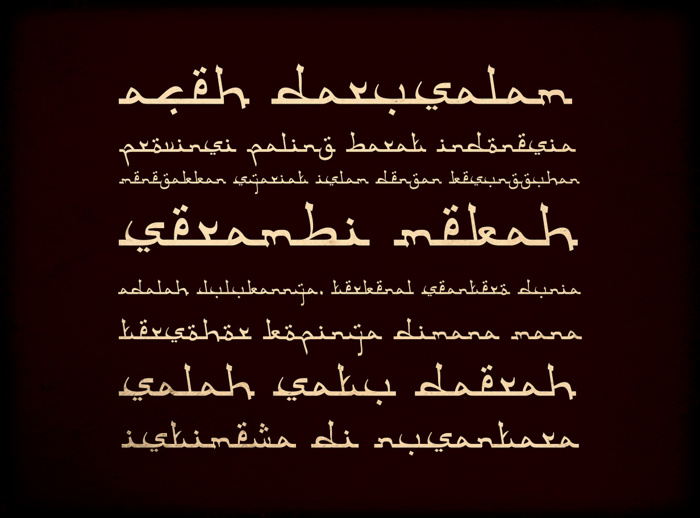 Aceh Darusalam Font poster
