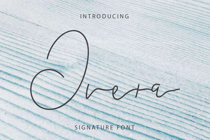 Overa Font poster