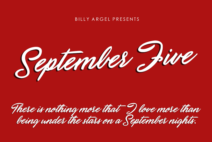September Five Font poster